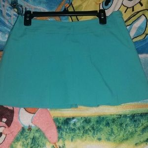 Teal Pleated Miniskirt
